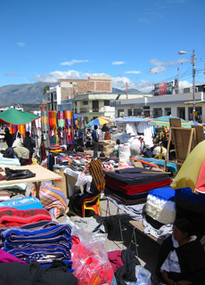Otavalo ancient indian market